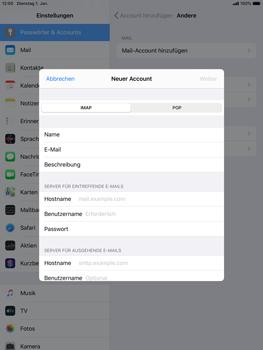 Apple iPad mini (2019) - iPadOS 13 - E-Mail - Manuelle Konfiguration - Schritt 10