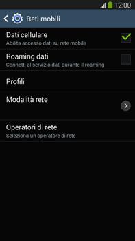 Samsung Galaxy Note III LTE - Rete - Selezione manuale della rete - Fase 6
