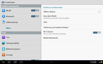 Samsung Galaxy Tab 2 10-1 - Ausland - Auslandskosten vermeiden - 7 / 8