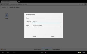 Sony Xperia Tablet Z LTE - Internet et roaming de données - Navigation sur Internet - Étape 13