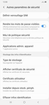 Samsung Galaxy A10 - Sécuriser votre mobile - Personnaliser le code PIN de votre carte SIM - Étape 6