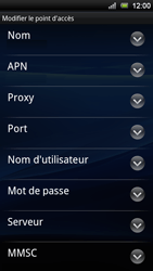 Sony Xperia Ray - Internet - Configuration manuelle - Étape 9