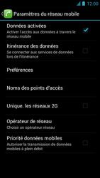 Alcatel One Touch Idol - Internet et roaming de données - Désactivation du roaming de données - Étape 7