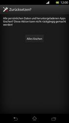 Sony Xperia T - Gerät - Zurücksetzen auf die Werkseinstellungen - Schritt 7