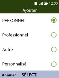 Alcatel 3088X - Contact, Appels, SMS/MMS - Ajouter un contact - Étape 17