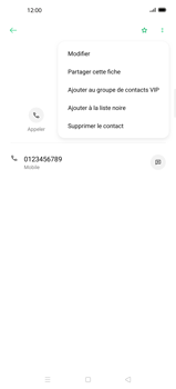 Oppo Find X2 Pro - Contact, Appels, SMS/MMS - Ajouter un contact - Étape 9