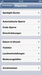 Apple iPhone 5 - Fehlerbehebung - Handy zurücksetzen - Schritt 6