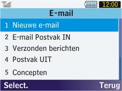 Samsung S3570 Chat 357 - E-mail - Hoe te versturen - Stap 4