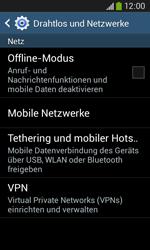 Samsung S7275 Galaxy Ace 3 - Netzwerk - Netzwerkeinstellungen ändern - Schritt 5