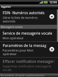 HTC A3333 Wildfire - Messagerie vocale - configuration manuelle - Étape 6