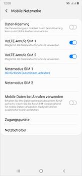Samsung Galaxy Note 20 Ultra 5G - Netzwerk - So aktivieren Sie eine 5G-Verbindung - Schritt 8