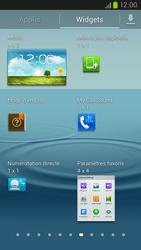 Samsung Galaxy S III LTE - Prise en main - Installation de widgets et d