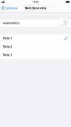Apple iPhone 6s - iOS 13 - Rete - Selezione manuale della rete - Fase 7