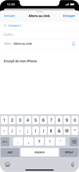 Apple iPhone XR - E-mails - Envoyer un e-mail - Étape 7