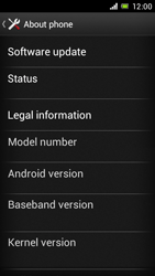 Sony Xperia J - Software - Installing software updates - Step 6