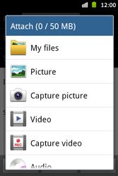 Samsung S6500D Galaxy Mini 2 - MMS - Sending pictures - Step 11