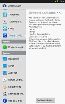 Samsung Galaxy Note 8-0 - Fehlerbehebung - Handy zurücksetzen - 8 / 11