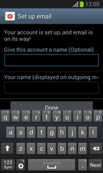 Samsung Galaxy Trend Lite - E-mail - manual configuration - Step 18