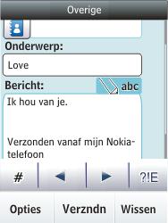 Nokia Asha 300 - E-mail - E-mails verzenden - Stap 12