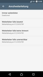 Sony Xperia XZ - Android Nougat - Anrufe - Rufumleitungen setzen und löschen - Schritt 7