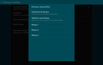 Samsung T805 Galaxy Tab S - Réseau - Sélection manuelle du réseau - Étape 9