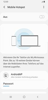Samsung Galaxy S9 - Android Pie - WiFi - So aktivieren Sie einen WLAN-Hotspot - Schritt 12