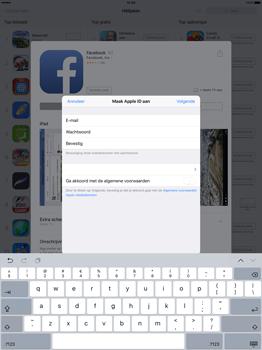 Apple iPad Pro 12.9 inch (Model A1671) - Applicaties - Account aanmaken - Stap 9