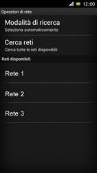 Sony Xperia J - Rete - Selezione manuale della rete - Fase 8