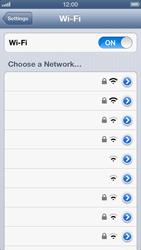 Apple iPhone 5 - WiFi - WiFi configuration - Step 5