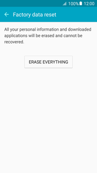 Samsung Galaxy A8 - Mobile phone - Resetting to factory settings - Step 7