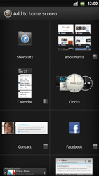 Sony Xperia T - Getting started - Installing widgets and applications on your start screen - Step 4