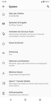 Sony Xperia XZ3 - Fehlerbehebung - Handy zurücksetzen - Schritt 8