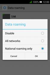 Alcatel Pixi 3 (3.5) - Internet and data roaming - Disabling data roaming - Step 9