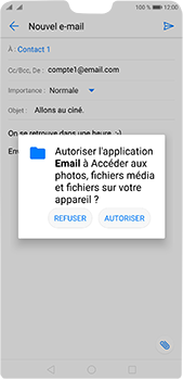 Huawei P20 Pro - E-mail - envoyer un e-mail - Étape 10