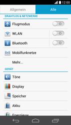 Huawei Ascend P6 - Internet und Datenroaming - Prüfen, ob Datenkonnektivität aktiviert ist - Schritt 4