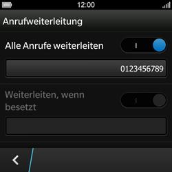 BlackBerry Q10 - Anrufe - Rufumleitungen setzen und löschen - Schritt 12