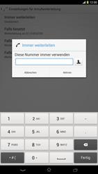 Sony Xperia Z Ultra LTE - Anrufe - Rufumleitungen setzen und löschen - Schritt 7