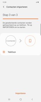 Samsung Galaxy Z Flip Single-SIM + eSIM (SM-F700F) - Contacten en data - Contacten kopiëren van SIM naar toestel - Stap 12