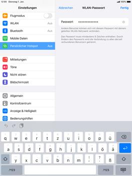 Apple iPad Mini 4 - ipados 13 - WiFi - So aktivieren Sie einen WLAN-Hotspot - Schritt 5
