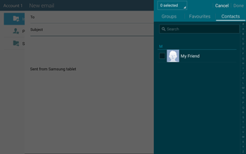 Samsung T805 Galaxy Tab S - E-mail - Sending emails - Step 6