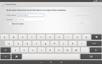 Sony Xperia Tablet Z2 LTE - E-Mail - Konto einrichten - Schritt 5