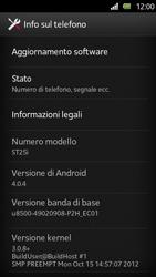 Sony Xperia U - Software - Installazione degli aggiornamenti software - Fase 6