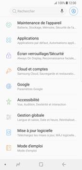 Samsung Galaxy S9 - Aller plus loin - Restaurer les paramètres d'usines - Étape 4