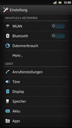 Sony Xperia S - Internet und Datenroaming - Deaktivieren von Datenroaming - Schritt 4