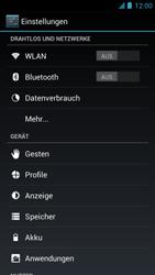 Alcatel One Touch Idol - Internet und Datenroaming - Deaktivieren von Datenroaming - Schritt 4