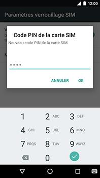 Motorola Moto E4 Plus - Sécuriser votre mobile - Personnaliser le code PIN de votre carte SIM - Étape 10