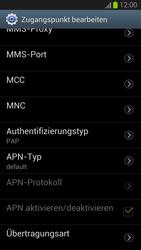 Samsung Galaxy S III - Internet und Datenroaming - Manuelle Konfiguration - Schritt 12