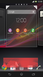 Sony Xperia Z - Getting started - Installing widgets and applications on your start screen - Step 7