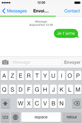 Apple iPhone 4S - Contact, Appels, SMS/MMS - Envoyer un SMS - Étape 9