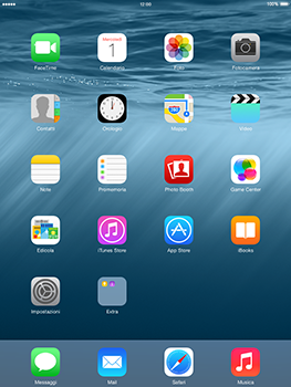 Apple iPad mini Retina iOS 8 - Risoluzione del problema - E-mail e messaggistica - Fase 1